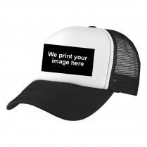 2-3XL Black / White Trucker Cap with Custom Logo