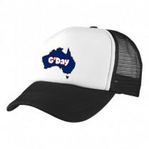 2-3XL Black / White Trucker Cap with Beer Logo (G'Day)
