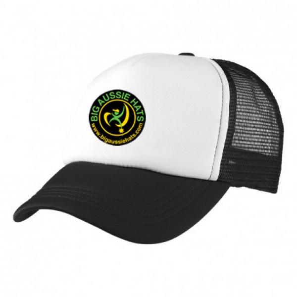 2-3XL Black / White Trucker Cap Branded with BAH Logo 2