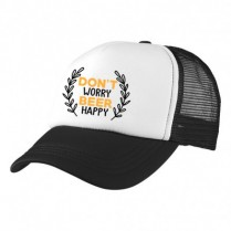 2-3XL Black / White Trucker Cap with Beer Logo (Don't worry, beer happy)