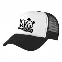 2-3XL Black / White Trucker Cap with Beer Logo (Its beer o'clock)