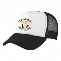 2-3XL Black / White Trucker Cap with Beer Logo (So many beers...)