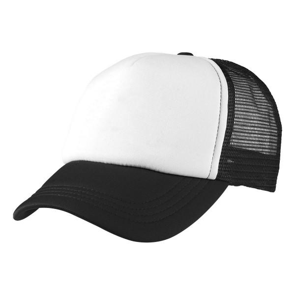 2-3XL Black / White Trucker Cap