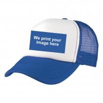 2-3XL Royal Blue / White Trucker Cap with Custom Logo