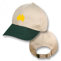 Khaki/Green Baseball Cap with Aussie Map Logo
