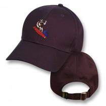 Black Baseball Cap with Surfing Kangaroo Logo