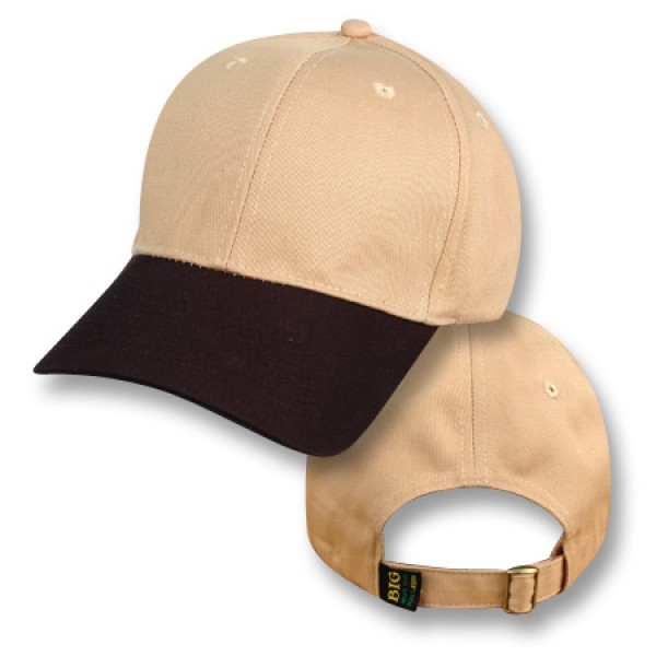 """Sydney Sandstone / Bushfire Black"" Visor Baseball Cap (Plain)"