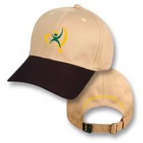 """""""Sydney Sandstone / Bushfire Black"""" Visor Baseball Cap (Branded)"""