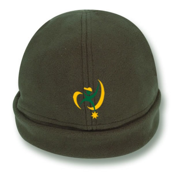 """Daintree Green"" Fleece Beanie (Branded)"