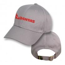 Grey Baseball Cap with Qantas Logo