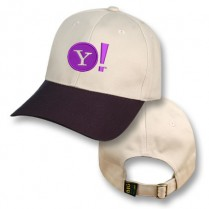Natural / Purple Baseball Cap with Yahoo Logo