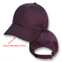 """Nowra Navy / Koala Grey Under Visor"" Visor Baseball Cap (Plain)"