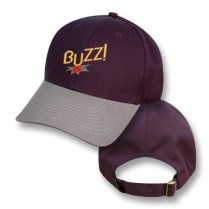"Navy / Grey Baseball Cap with ""Buzz"" Logo"