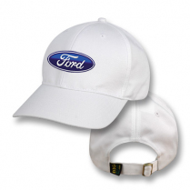 White Baseball Cap with Ford Logo