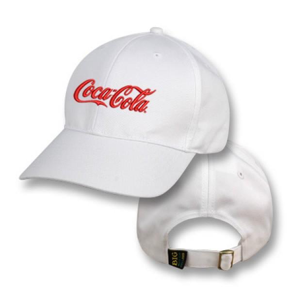 White Baseball Cap with Coca-Cola Logo