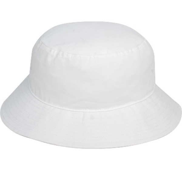 """Whitsunday White"" Bucket Hat (Plain)"